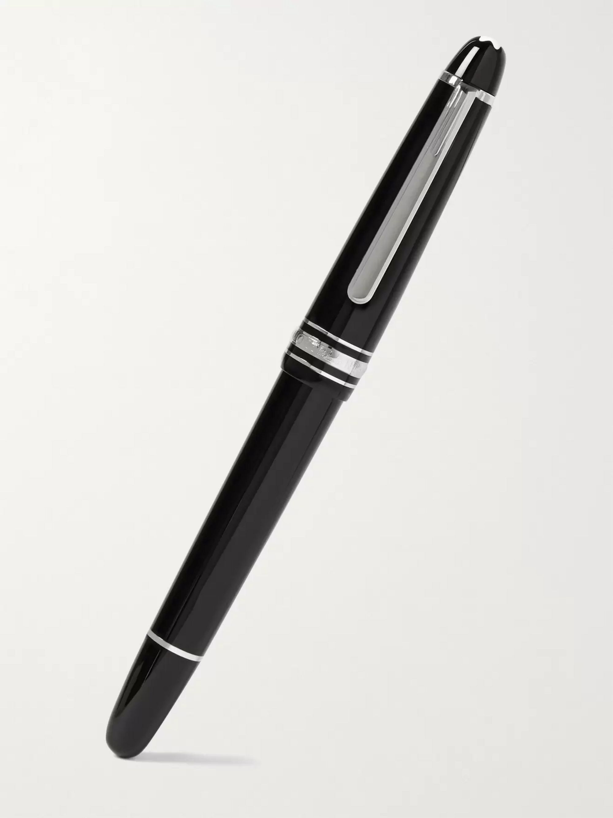 Montblanc Meisterstück Classique Platinum-Plated and Resin Fountain Pen