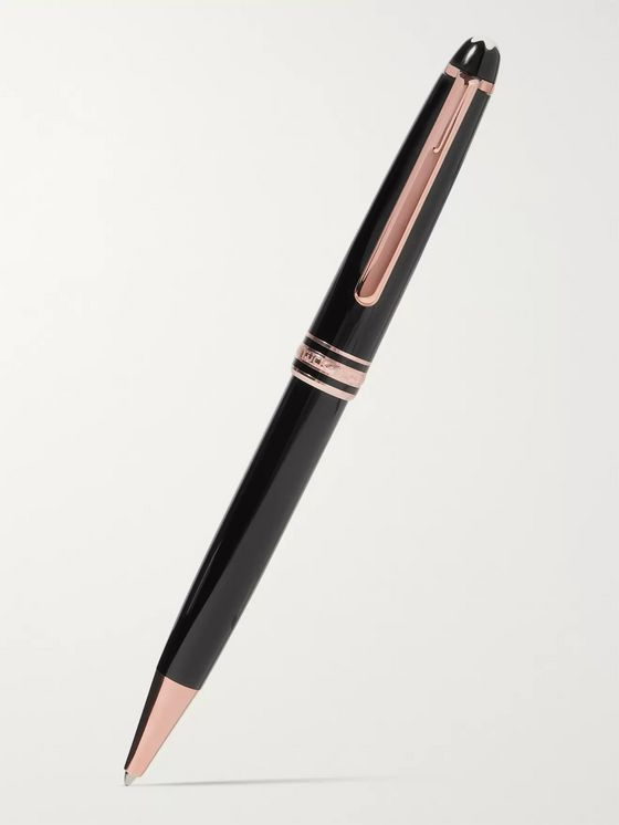 Montblanc Meisterstück 90 Years LeGrand Resin and Rose Gold-Plated Ballpoint Pen