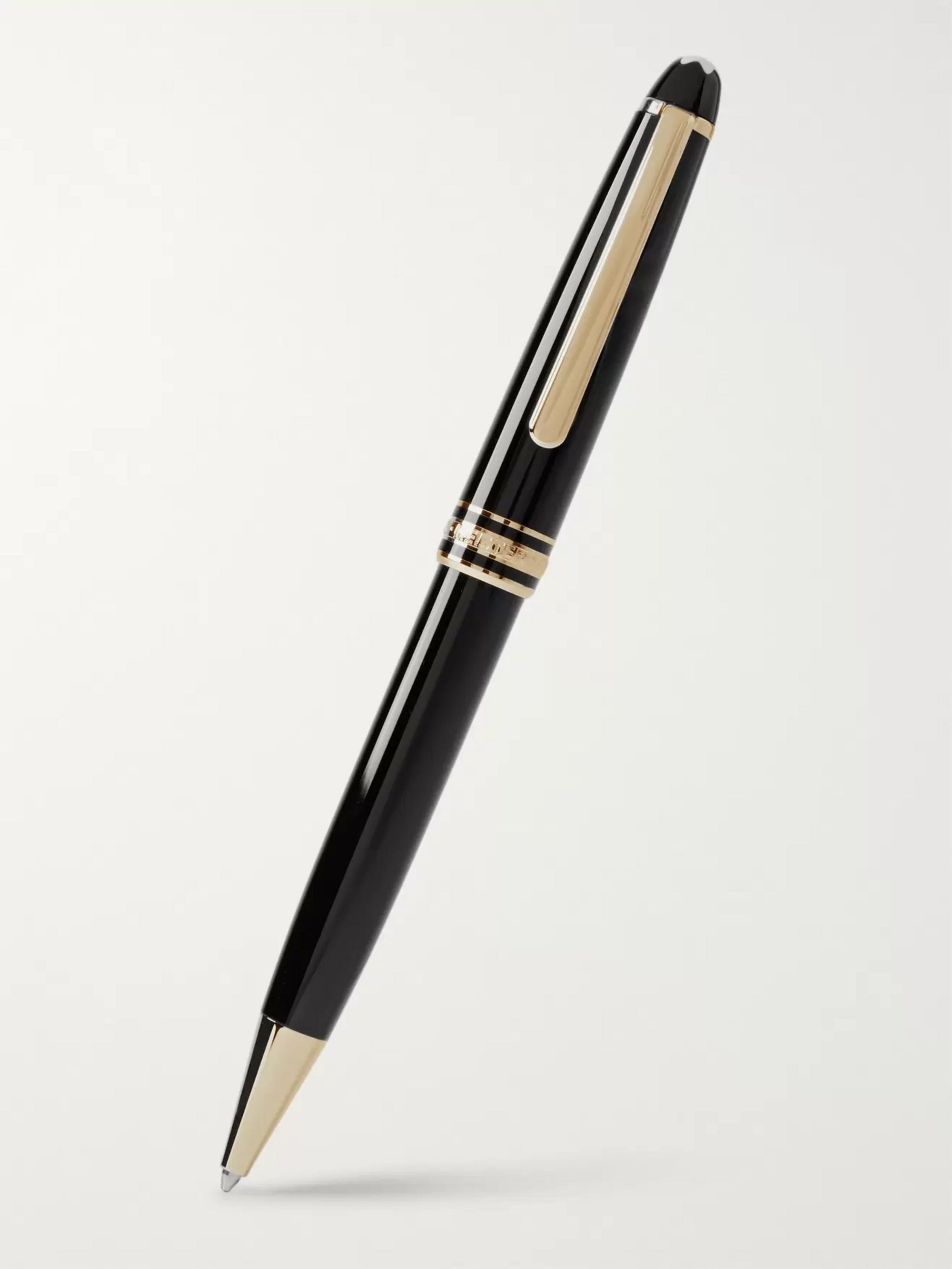 Montblanc Meisterstück Classique Resin and Gold-Plated Ballpoint Pen