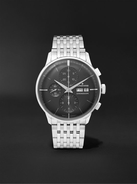 Junghans Meister Chronoscope Stainless Steel Watch