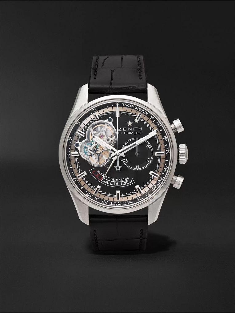 Zenith El Primero Chronomaster 42mm Stainless Steel and Alligator Watch, Ref. No. 03.2080.4021/21.C496
