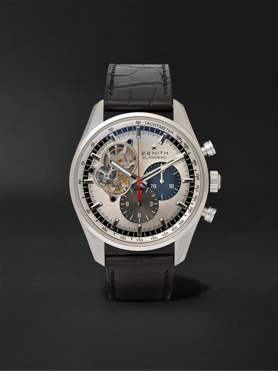 Zenith El Primero Chronomaster 1969 42mm Stainless Steel and Alligator Watch, Ref. No. 03.2040.4061/69.C496