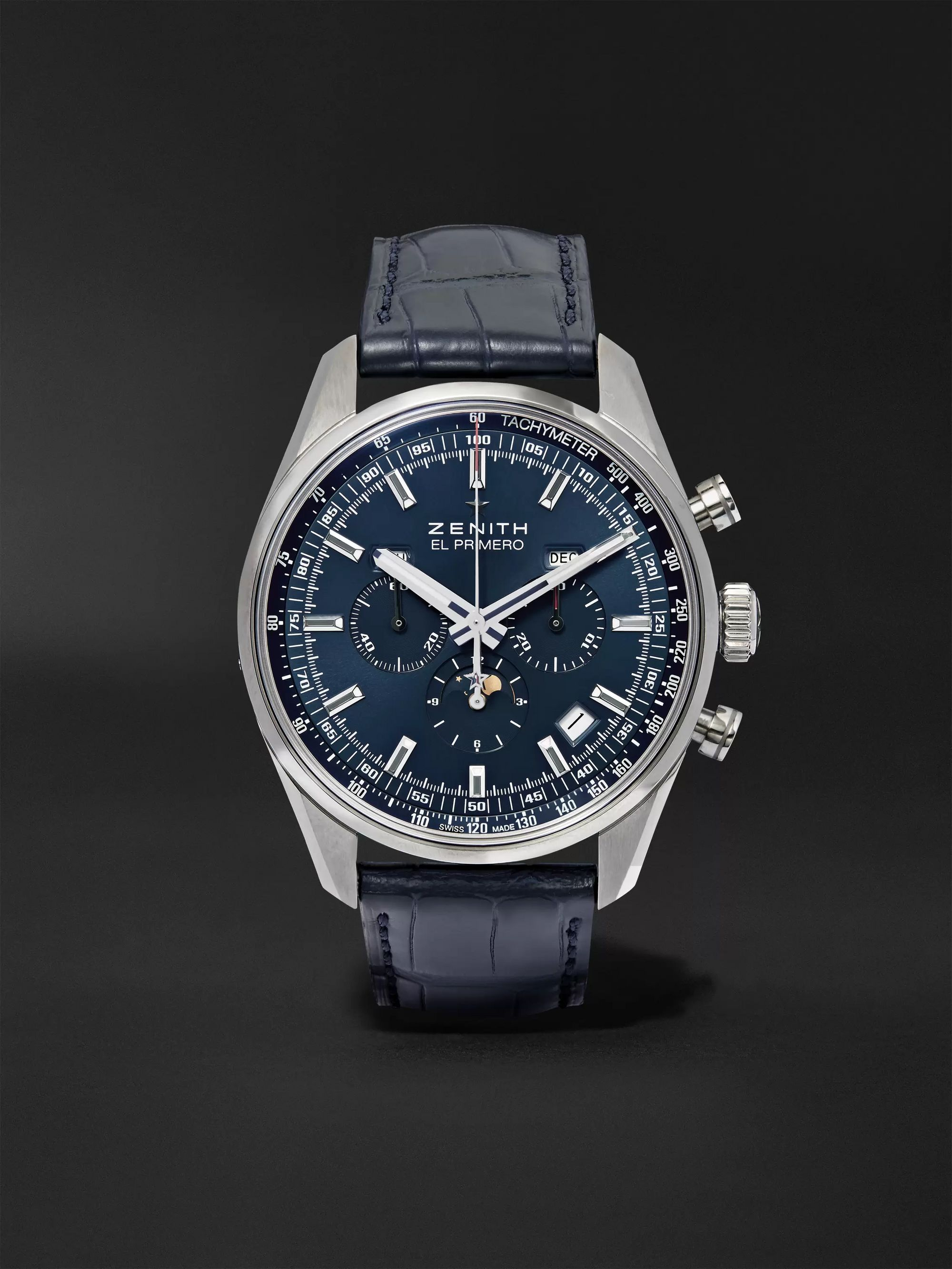 Zenith El Primero 410 42mm Stainless Steel and Alligator Watch, Ref. No. 03.2097.410/51.C700