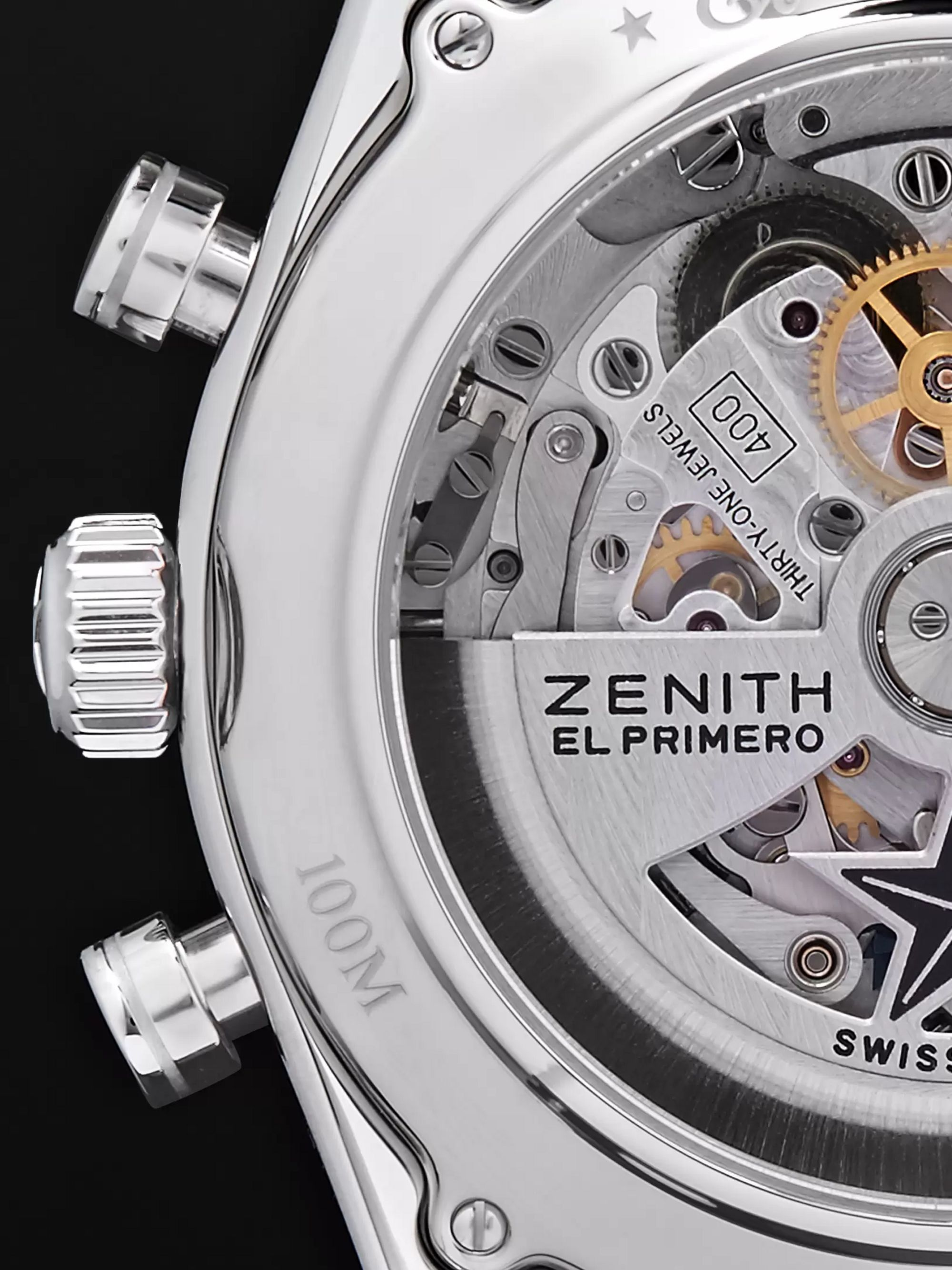 Zenith El Primero 42mm Stainless Steel and Alligator Watch, Ref. No. 03.2040.400/69.C494