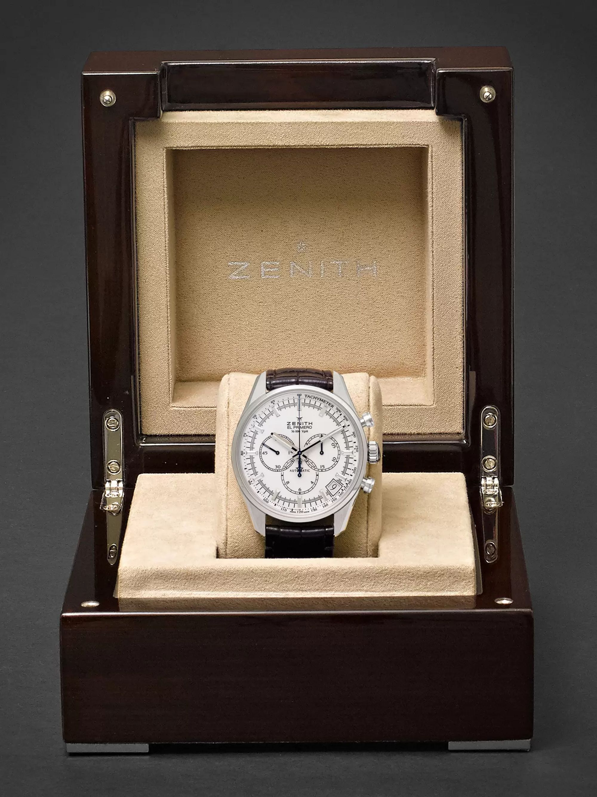 Zenith El Primero 42mm Stainless Steel and Alligator Watch, Ref. No. 03.2080.400/01.C494