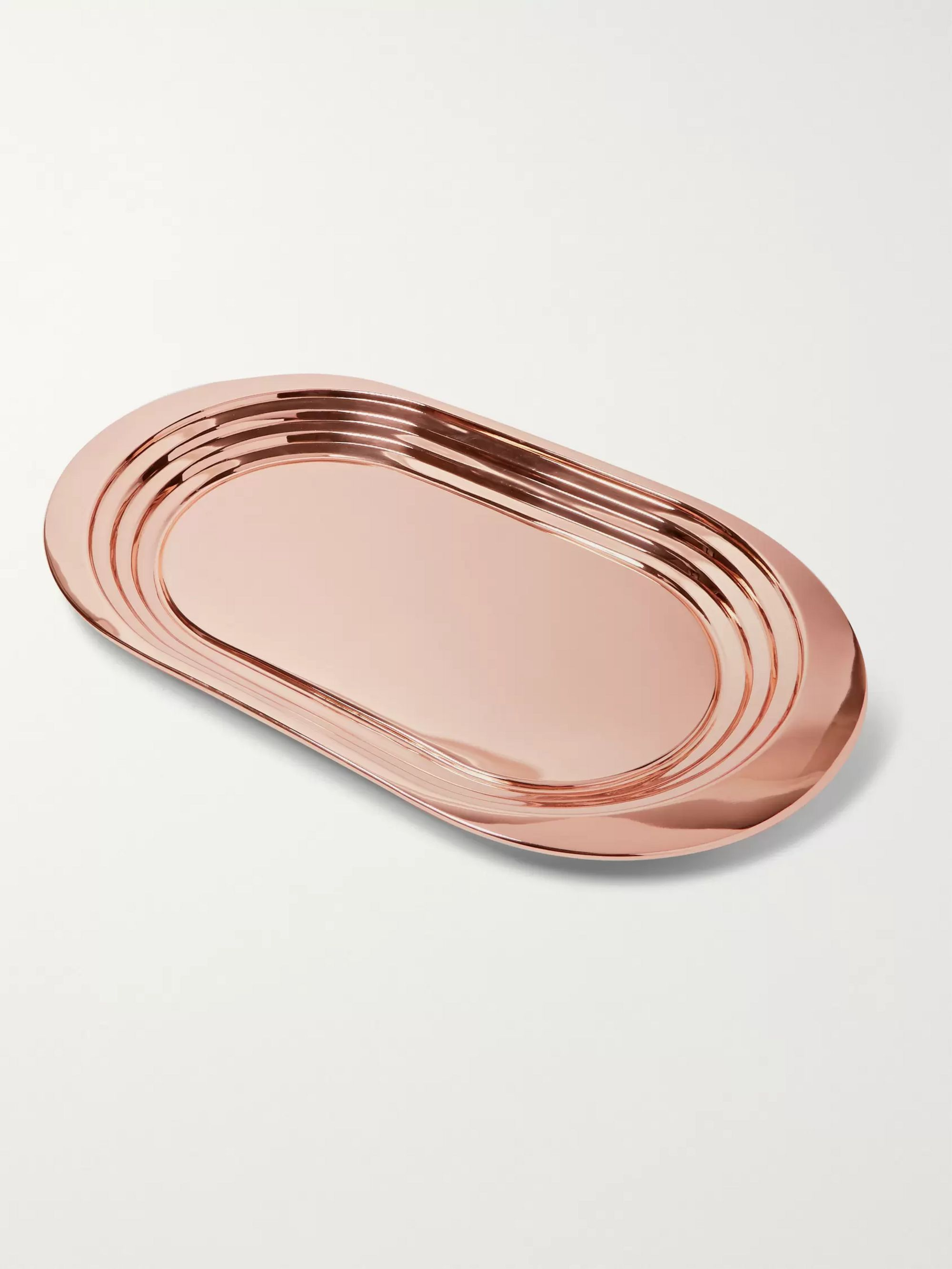 Tom Dixon Plum Copper-Plated Tray
