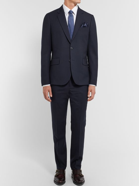 Paul Smith Navy A Suit To Travel In Soho Slim-Fit Wool Suit