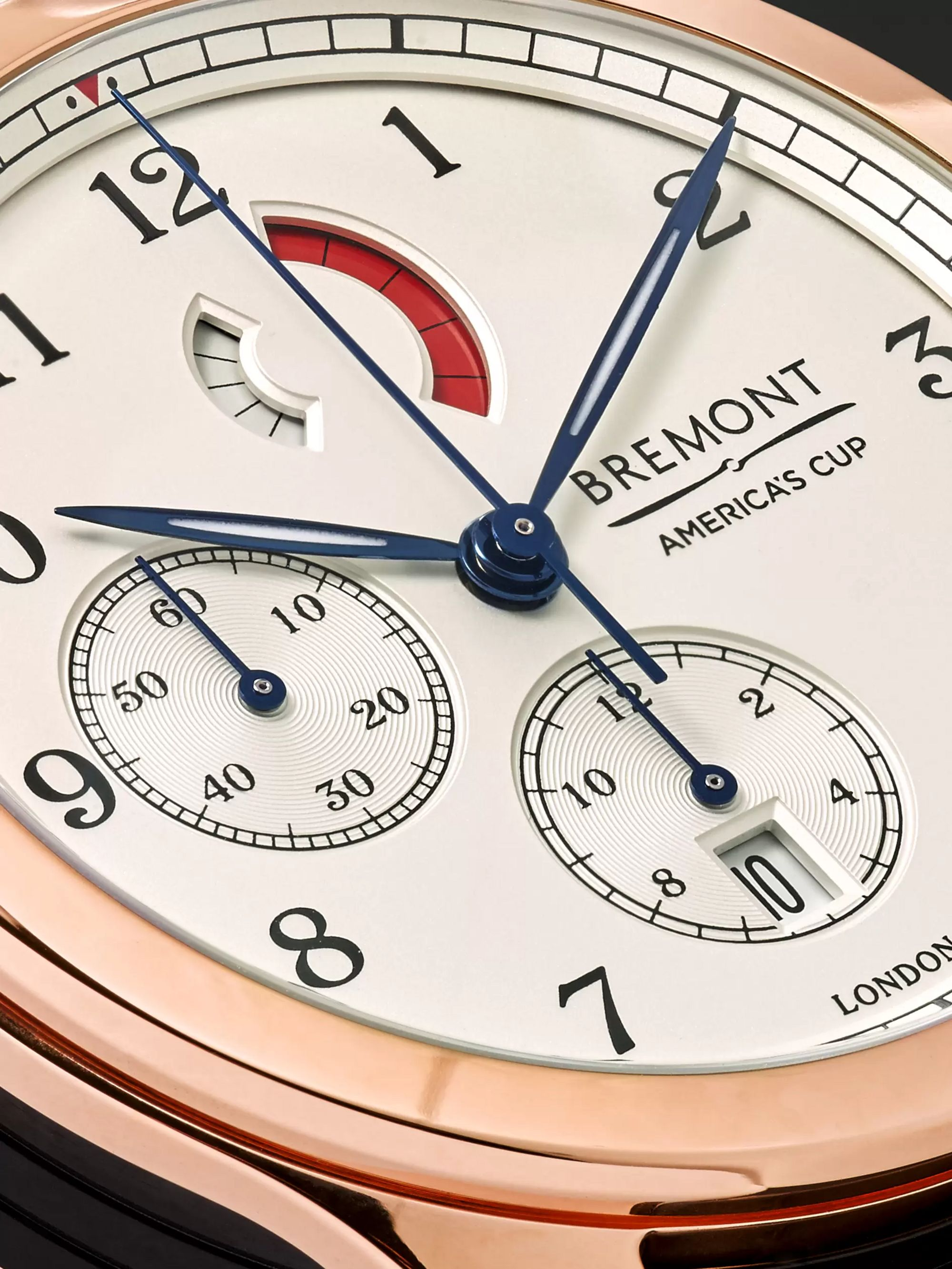 Bremont America's Cup Regatta Chronograph 43mm Rose Gold and Alligator Watch, Ref. No. AC-R/RG