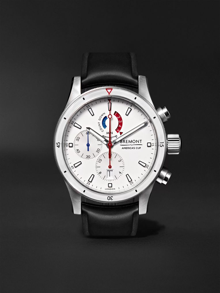 Bremont Oracle Team USA Regatta Chronograph 43mm Titanium and Rubber Watch, Ref. No. OTUSA-R/WH