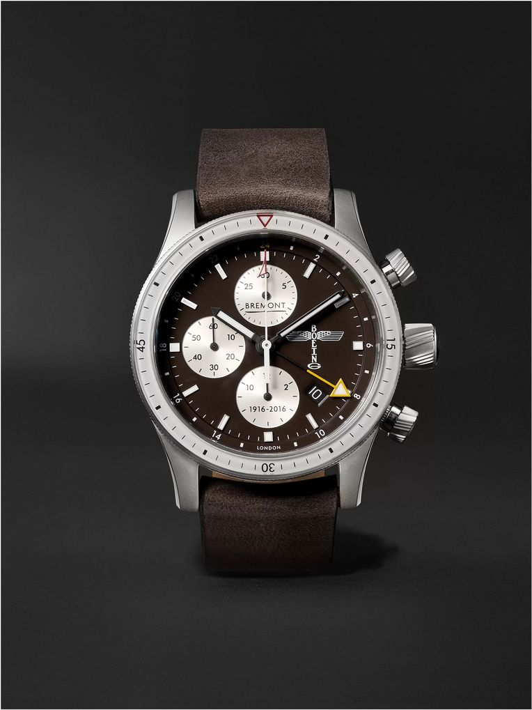 Bremont Boeing 100 Automatic Chronometer 43mm Titanium and Leather Watch
