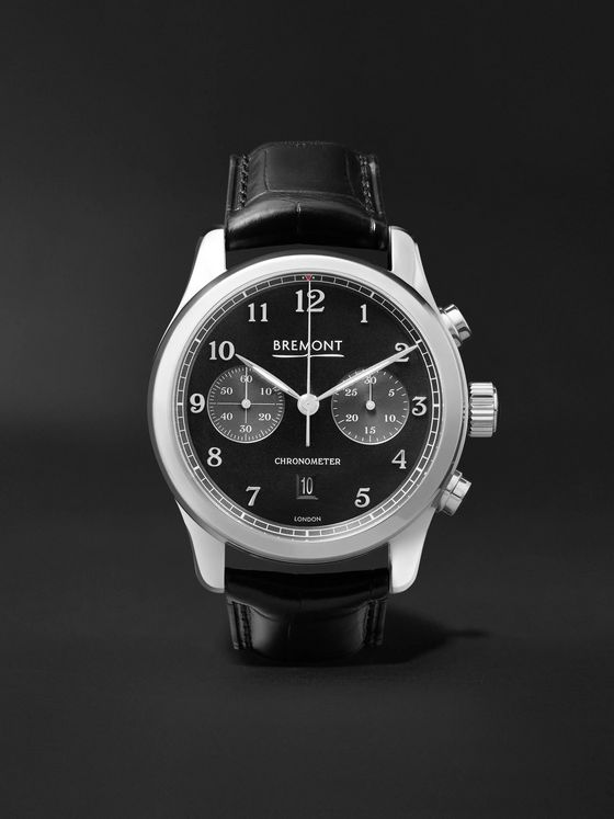 Bremont ALT1-Classic/PB Automatic Chronograph 43mm Stainless Steel and Alligator Watch, Ref. No. ALT1-C/PB, Ref. No. ALT1-C/PB