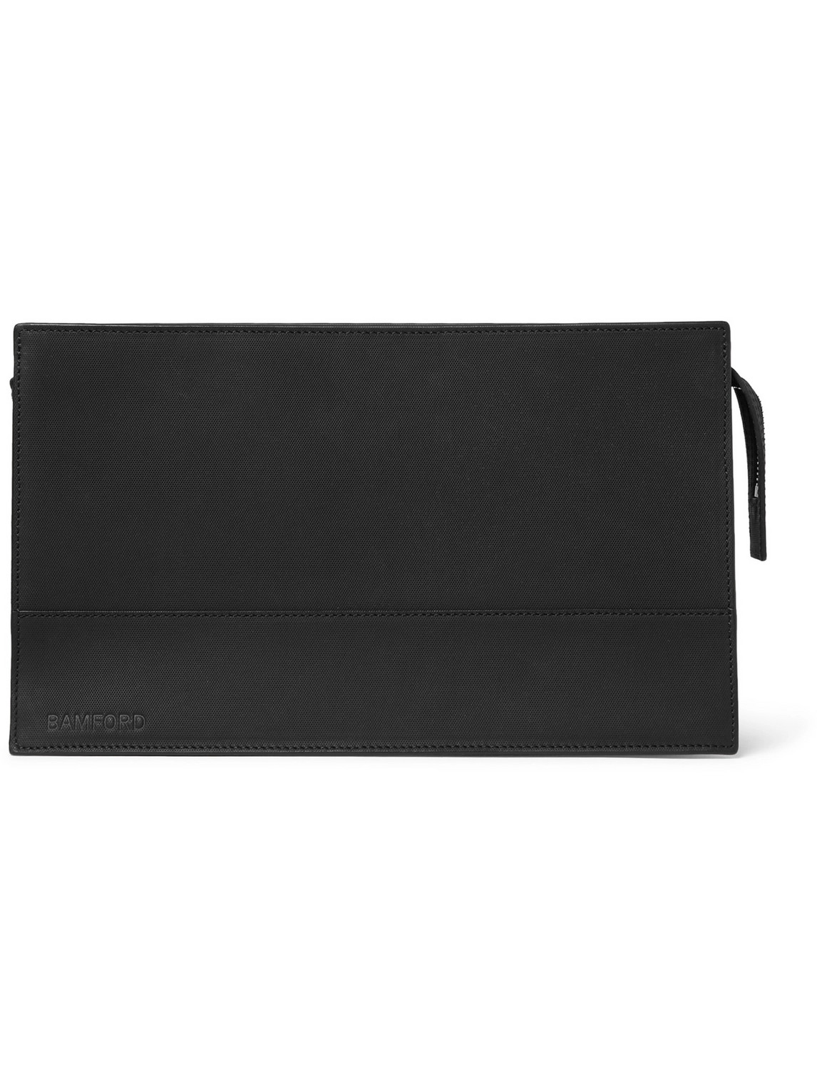 bamford grooming department - perforated leather wash bag - men - black - one size