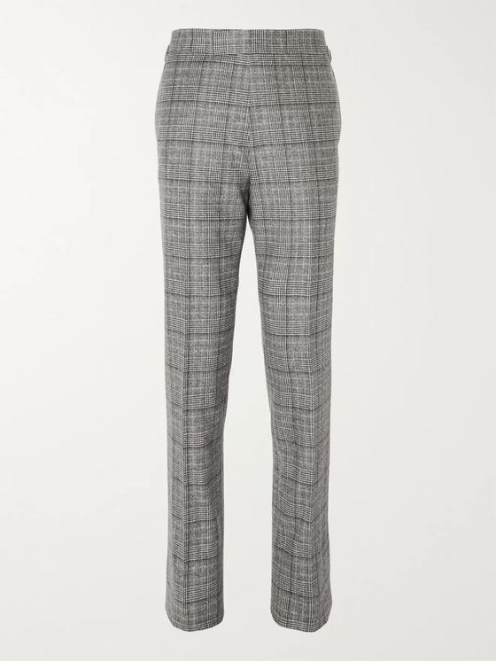 Kingsman Grey Checked Wool Suit Trousers