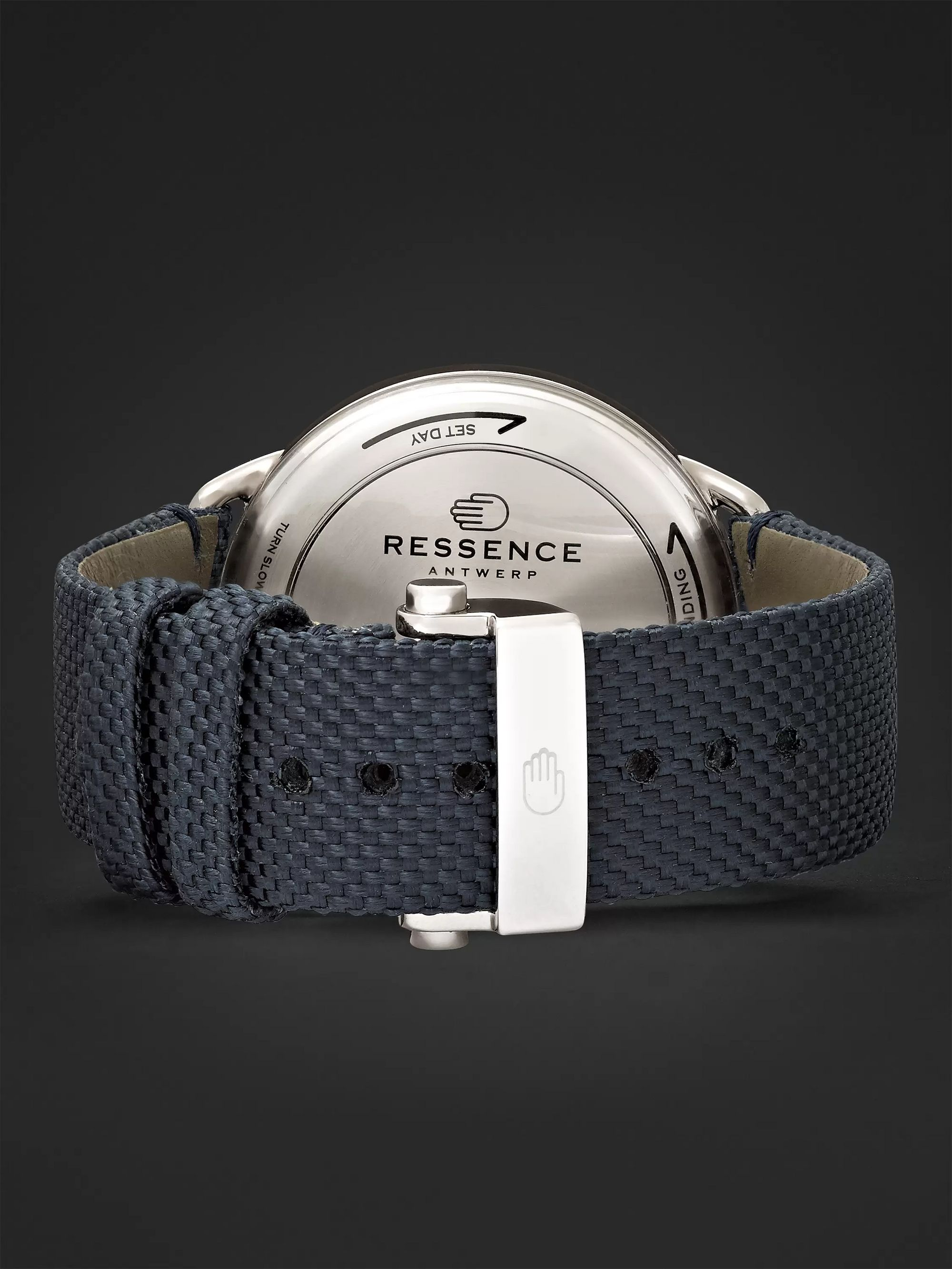 Ressence Type 1 Mechanical 42mm Titanium and Woven Watch, Ref. No. TYPE 1G