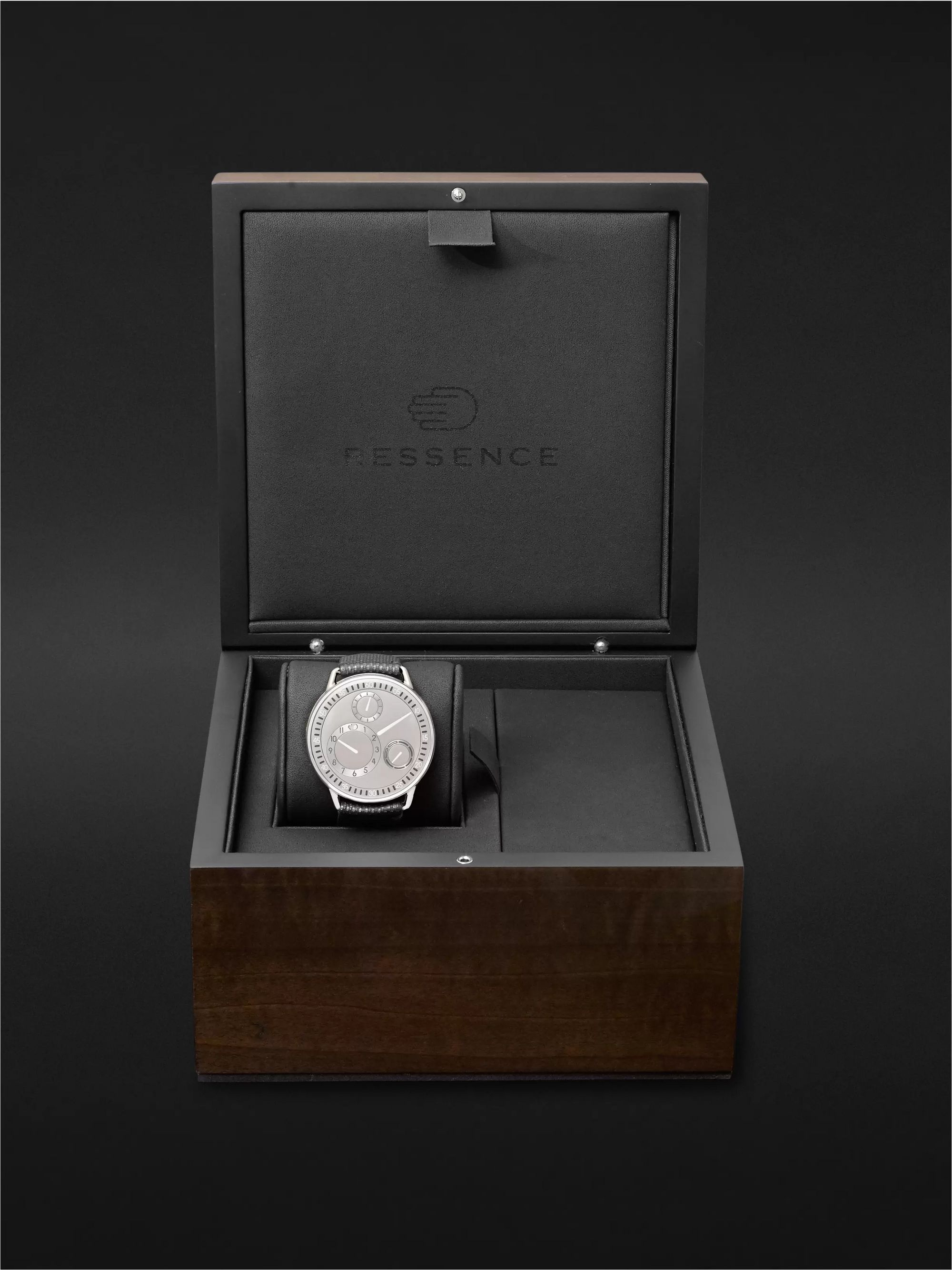 RESSENCE Type 1 Mechanical 42mm Titanium and Leather Watch, Ref. No. TYPE 1CH