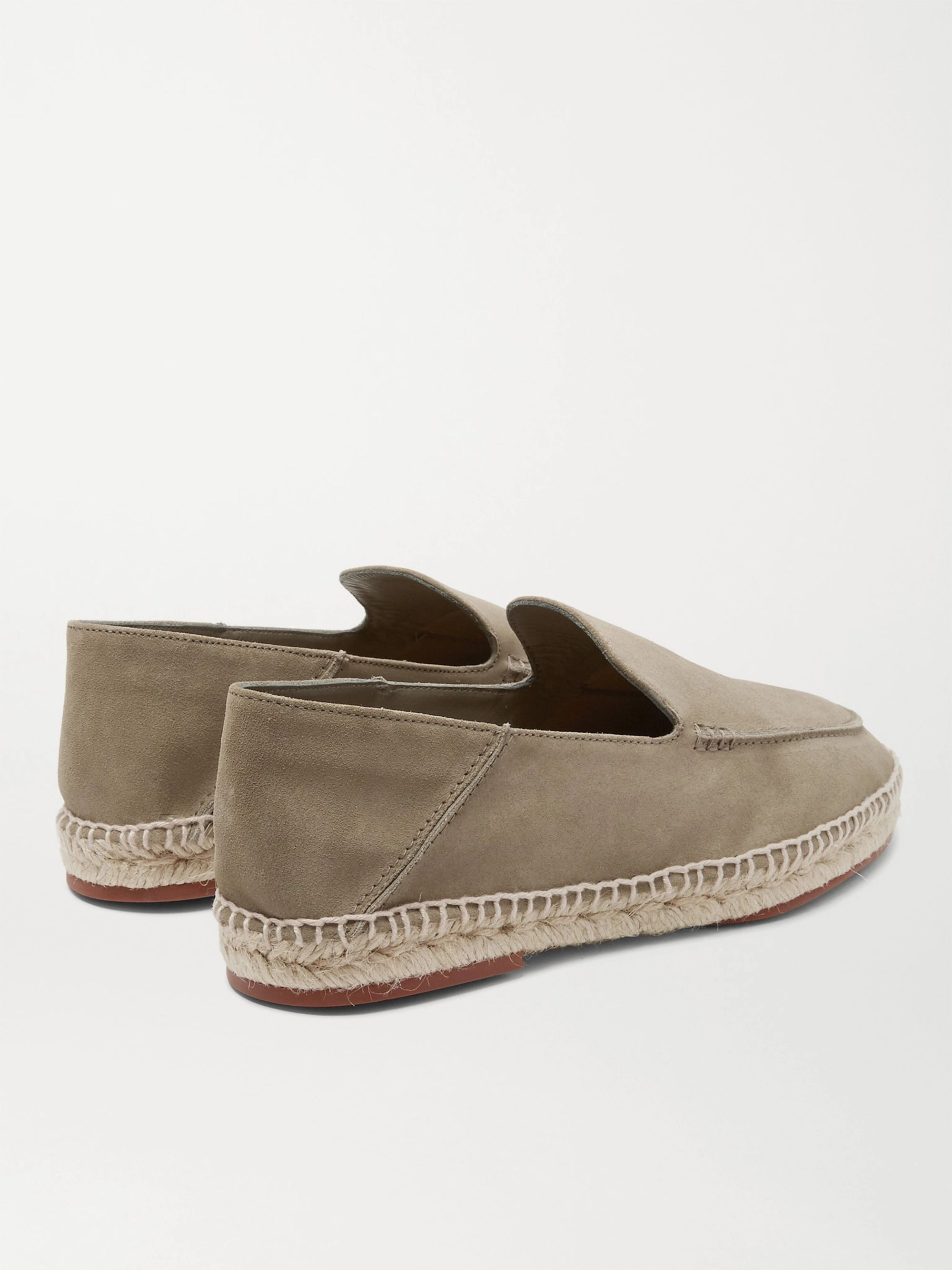 Loro Piana Seaside Walk Collapsible-Heel Suede Espadrilles