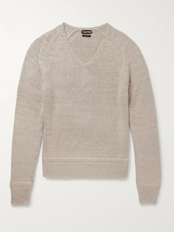 TOM FORD Mulberry Silk and Mohair-Blend Sweater