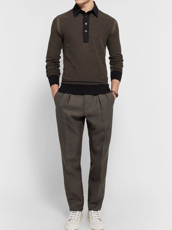TOM FORD Pleated Linen Trousers