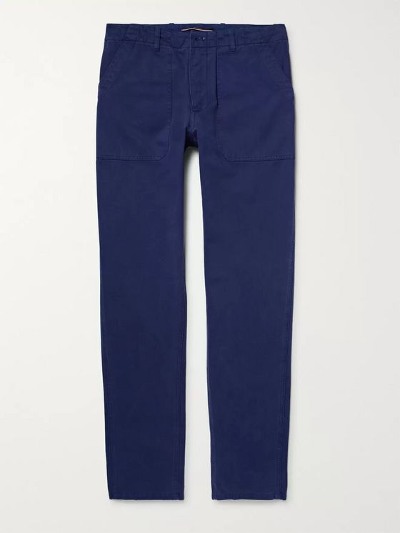 The Workers Club Garment-Dyed Cotton-Twill Chinos