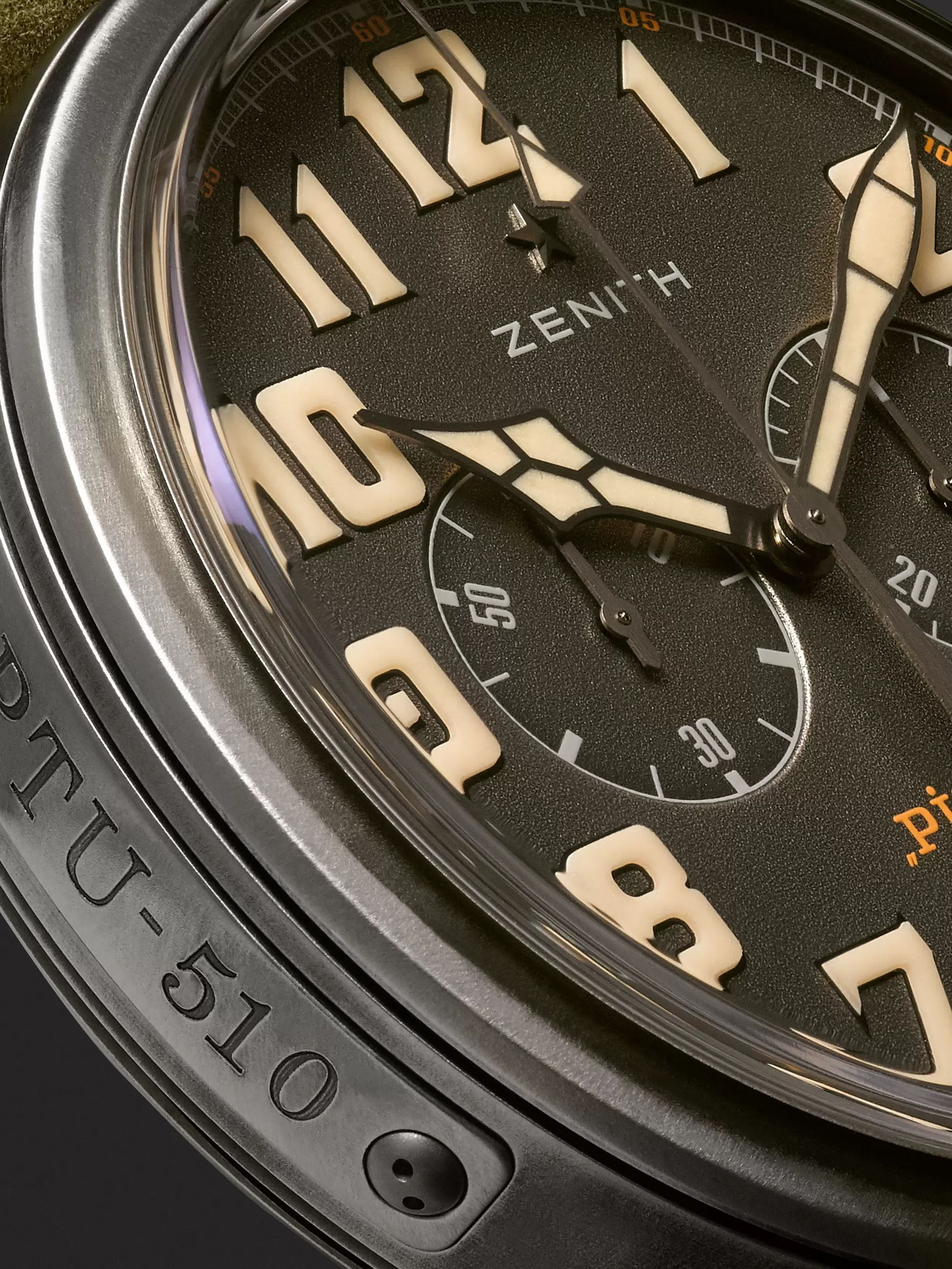 Zenith Heritage Pilot Ton-Up 45mm Stainless Steel and Nubuck Watch, Ref. No. 11.2430.4069/21.C773