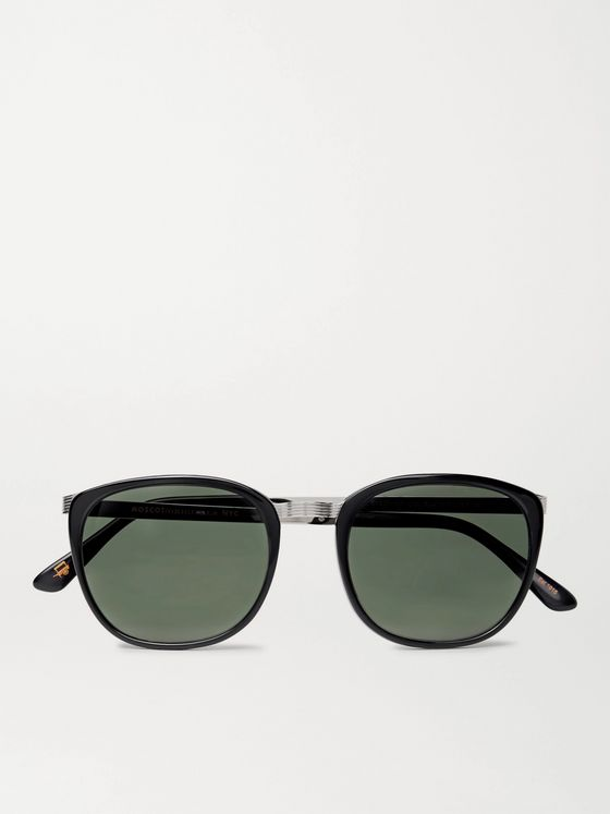 Moscot Brude D-Frame Acetate and Silver-Tone Sunglasses