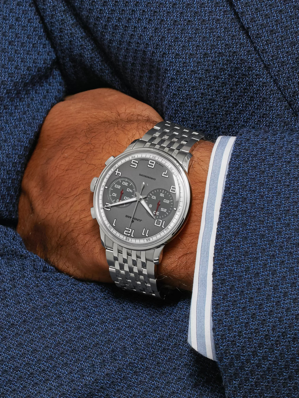 Junghans Meister Driver Chronoscope 40mm Stainless Steel Watch