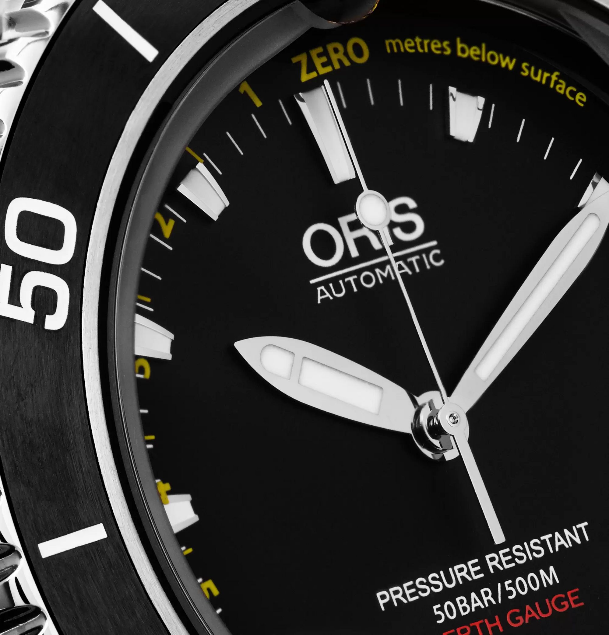 Oris Aquis Depth Gauge Stainless Steel Watch, Ref. No. 73376754154-SET