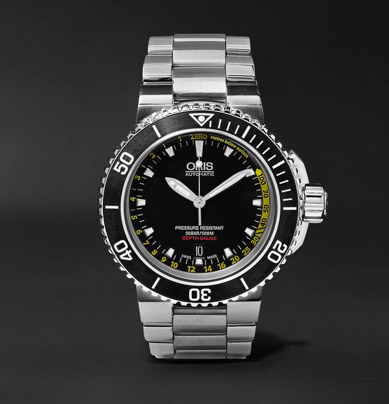 Oris Aquis Depth Gauge Automatic 46mm Stainless Steel Watch, Ref. No. 73376754154-SET