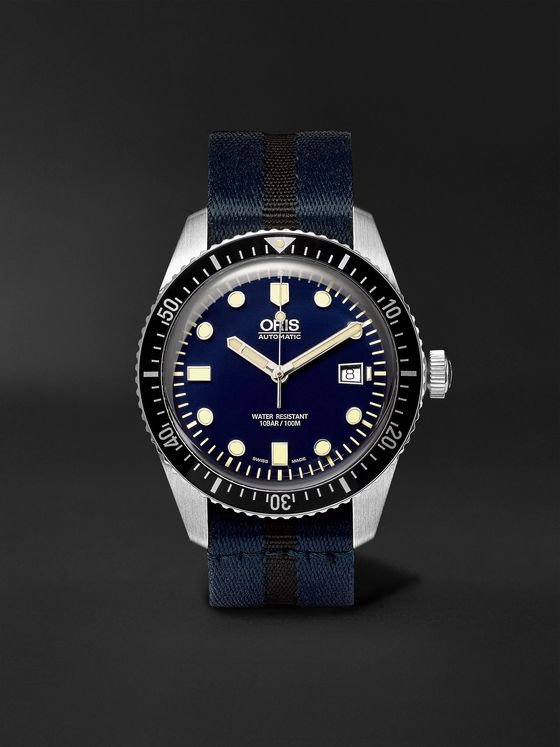 Oris Divers Sixty-Five Automatic 42mm Stainless Steel and Canvas Watch, Ref. No. 01 733 7720 4055-07 5 21 28FC