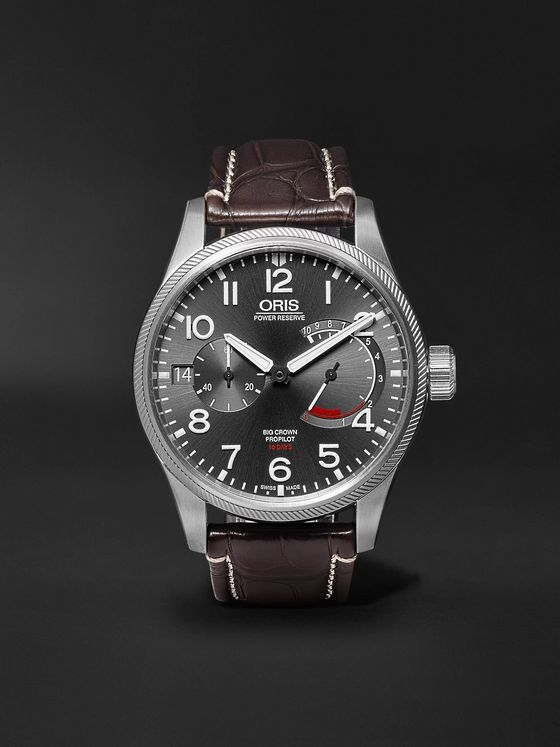 ORIS ProPilot Calibre 111 44mm Stainless Steel and Alligator Watch, Ref. No. 111 7711 4163 12272FC