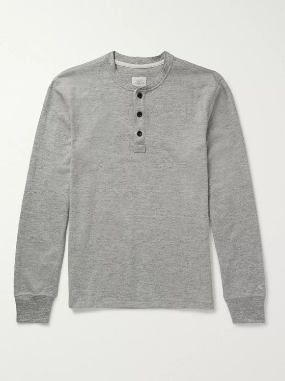 rag & bone Cotton-Jersey Henley T-Shirt