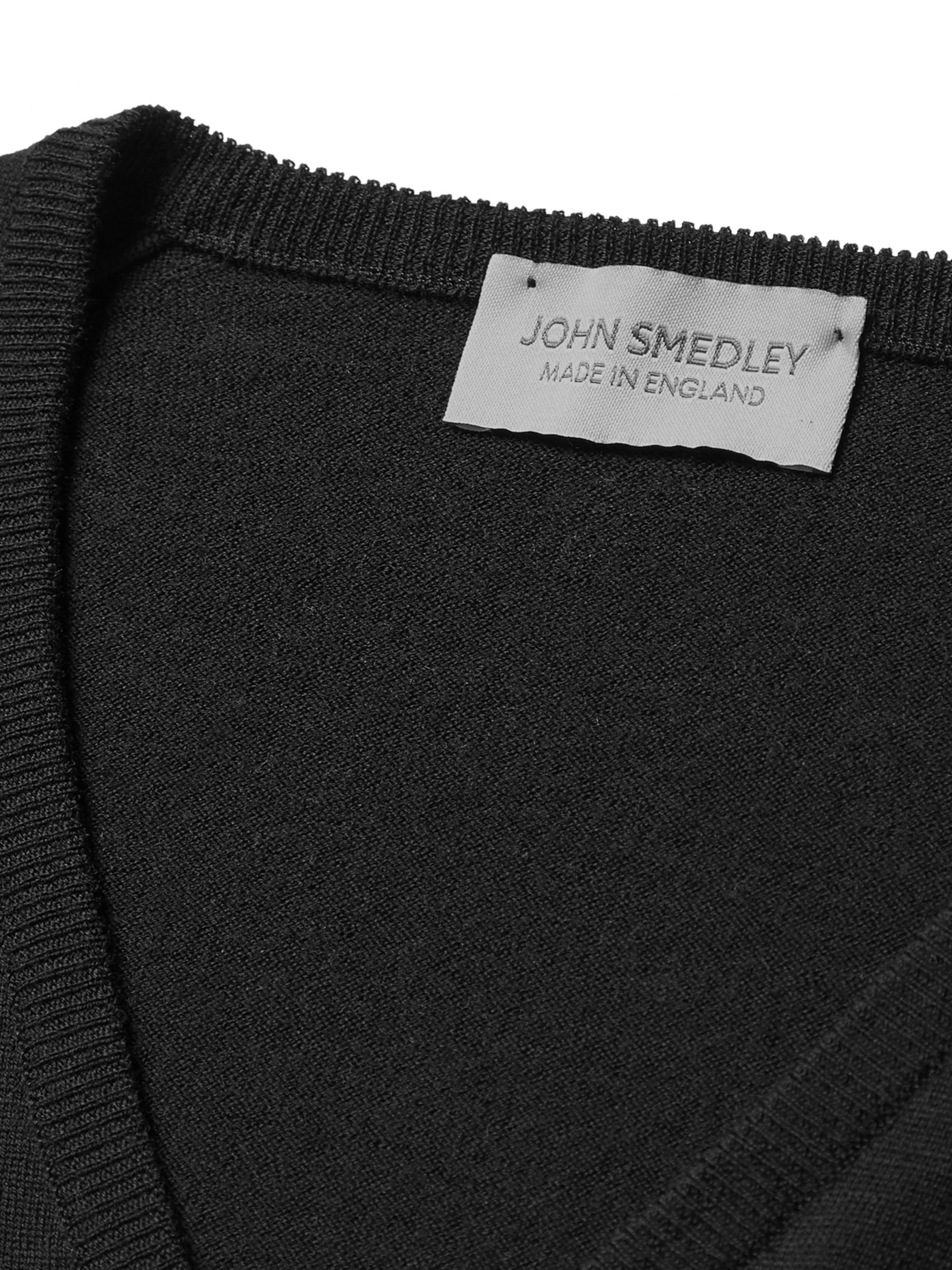 Black Blenheim Merino Wool Sweater   John Smedley