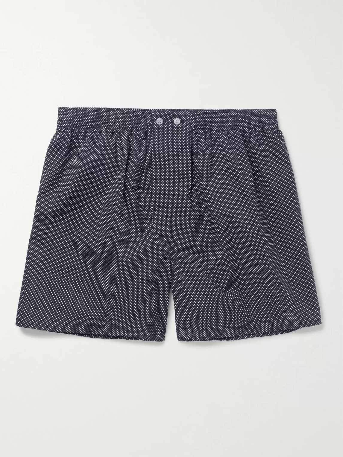 derek rose - plaza polka-dot cotton boxer shorts - blue