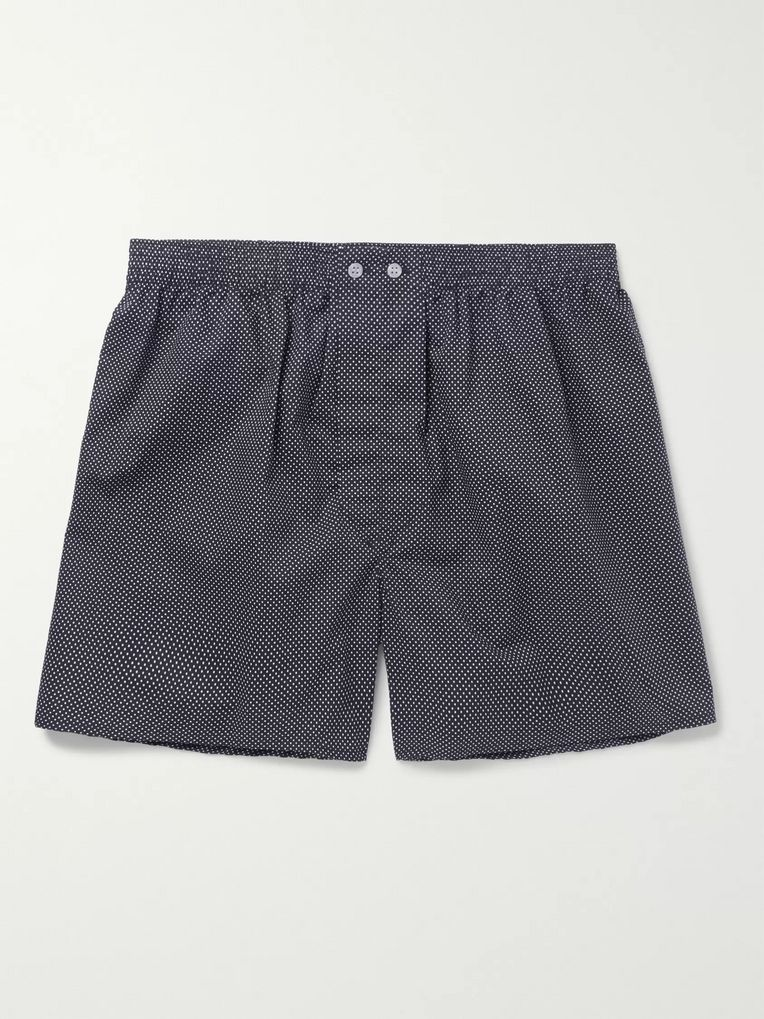 Derek Rose Plaza Polka-Dot Cotton Boxer Shorts