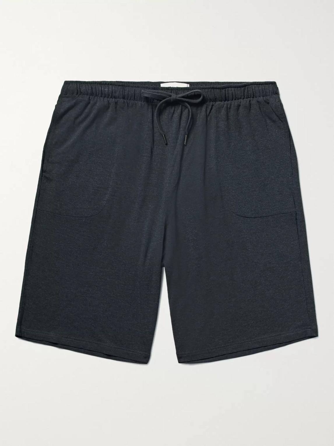 derek rose - marlowe stretch micro modal jersey pyjama shorts - gray - s - men