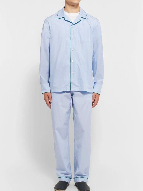Sleepy Jones Henry End-on-End Cotton Pyjama Shirt