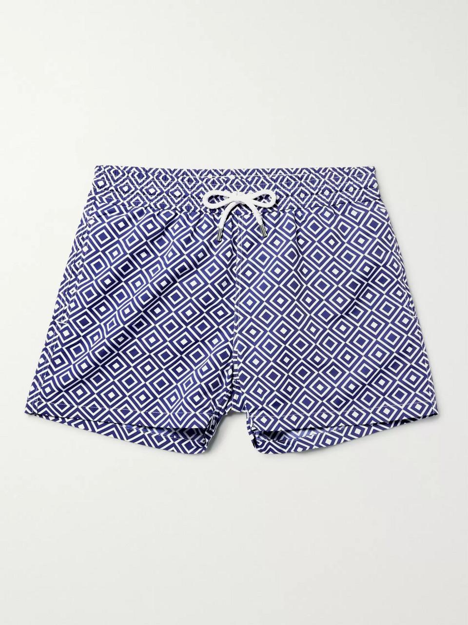 fba68fa6b4 Frescobol Carioca Angra Slim-Fit Short-Length Printed Swim Shorts