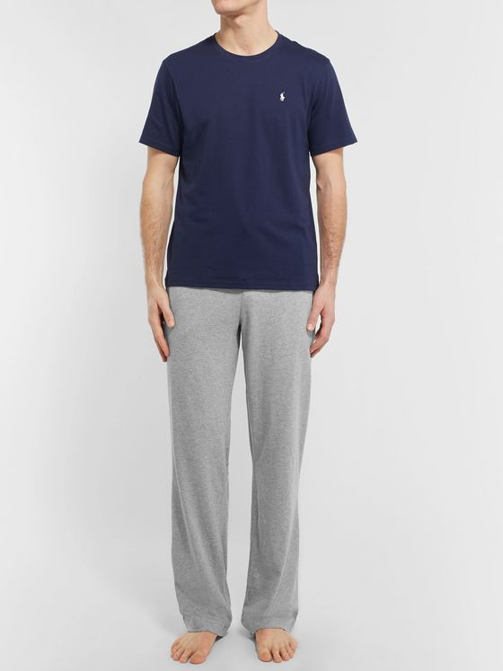 Polo Ralph Lauren Mélange Cotton-Jersey Pyjama Trousers