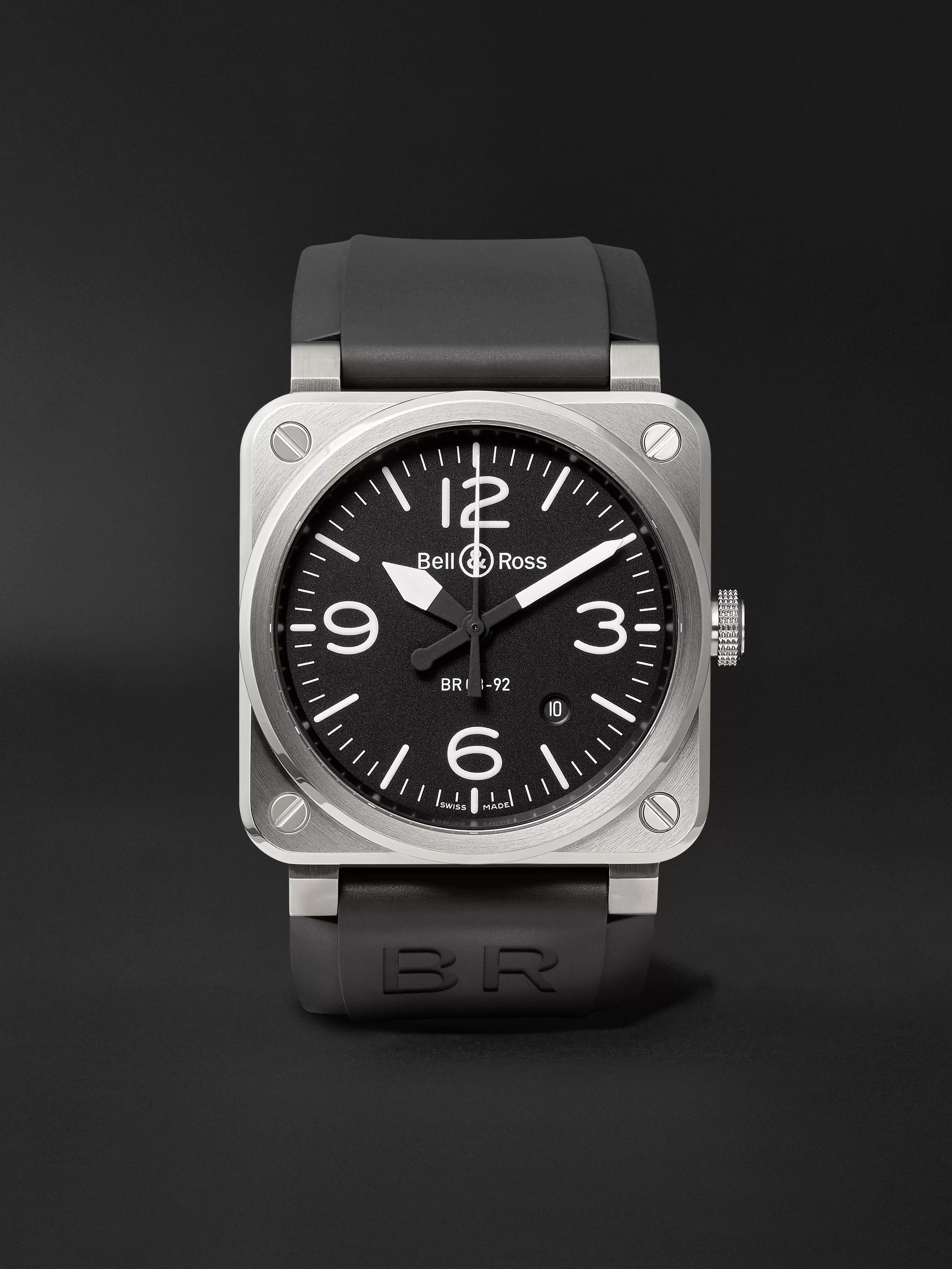 Bell & Ross BR 03-92 Automatic 42mm Stainless Steel and Rubber Watch