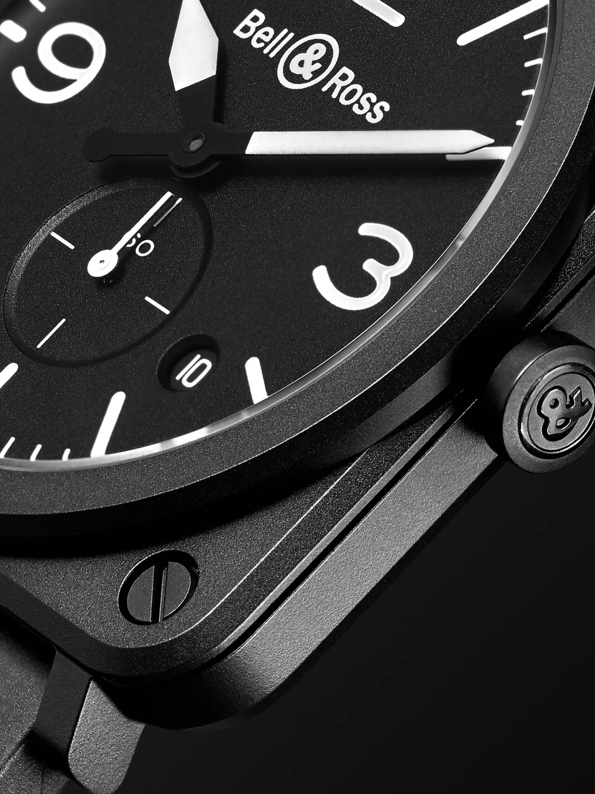 Bell & Ross BR S 39mm Ceramic and Rubber Watch, Ref. No. BRS-BL-CEM