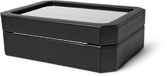 WOLF Windsor Faux Leather 10-Piece Watch Box