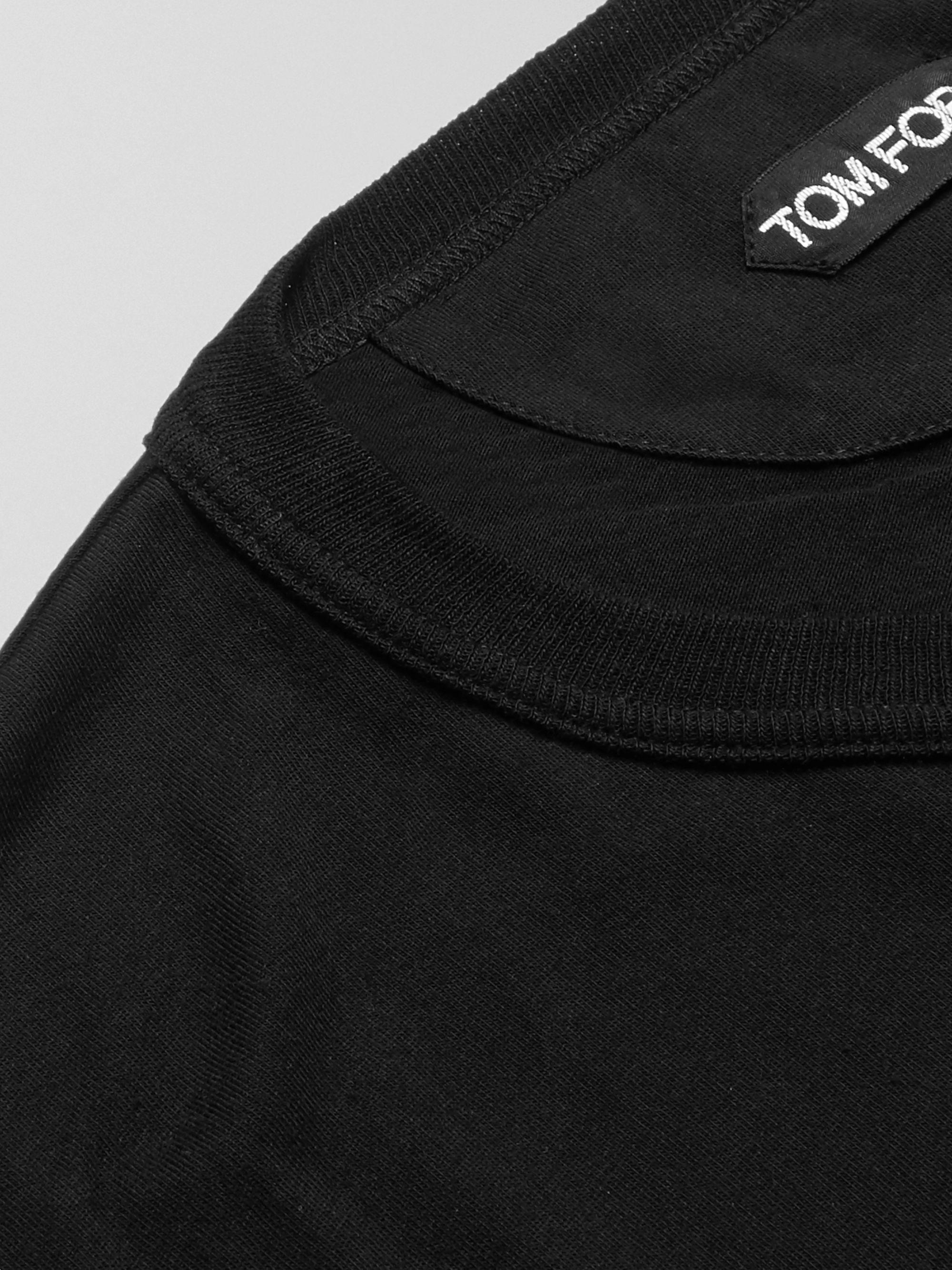 Black Cotton-jersey T-shirt | Tom Ford