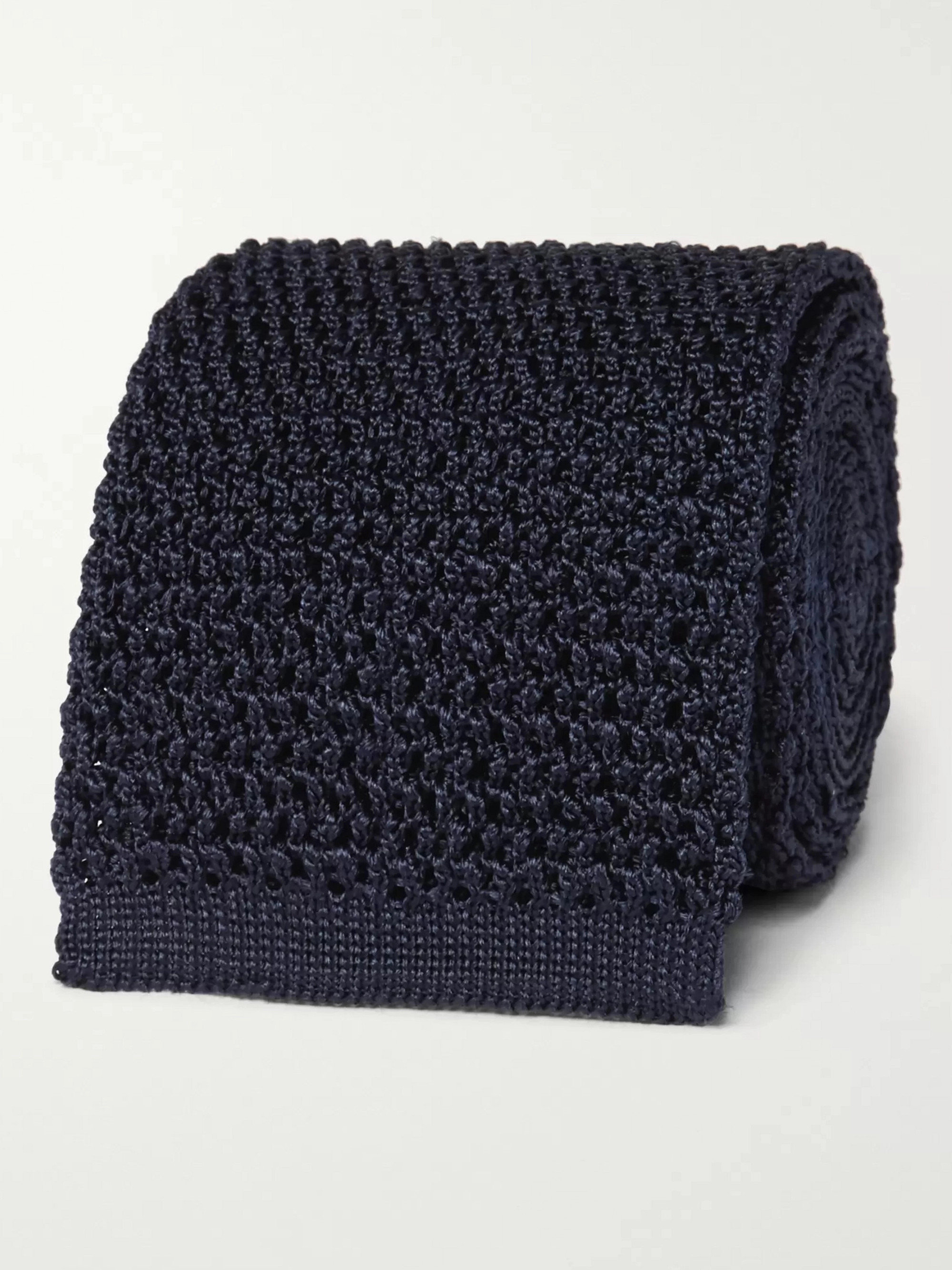 TOM FORD 7.5cm Knitted Silk Tie