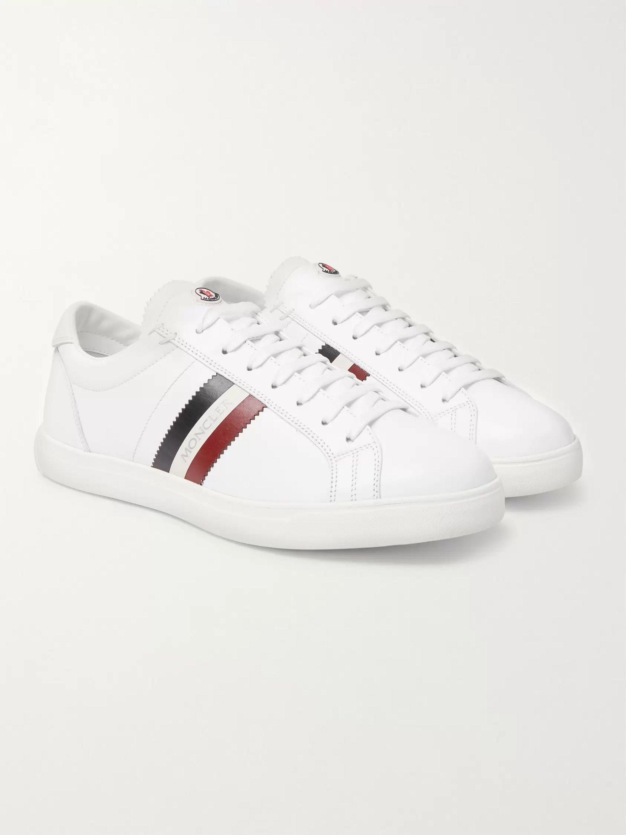 Monaco Striped Leather Sneakers