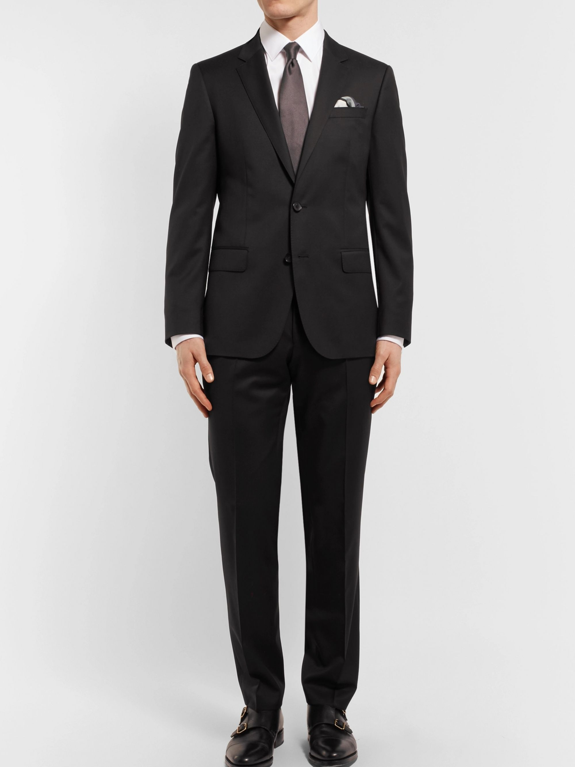 Hugo Boss Black Hayes Slim-Fit Super 120s Virgin Wool Suit Jacket