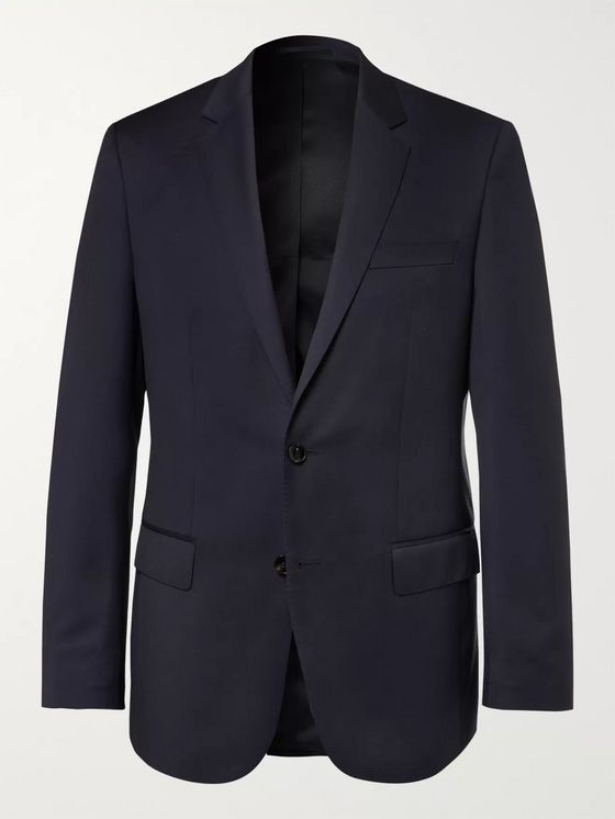 HUGO BOSS Blue Hayes Slim-Fit Super 120s Virgin Wool Suit Jacket