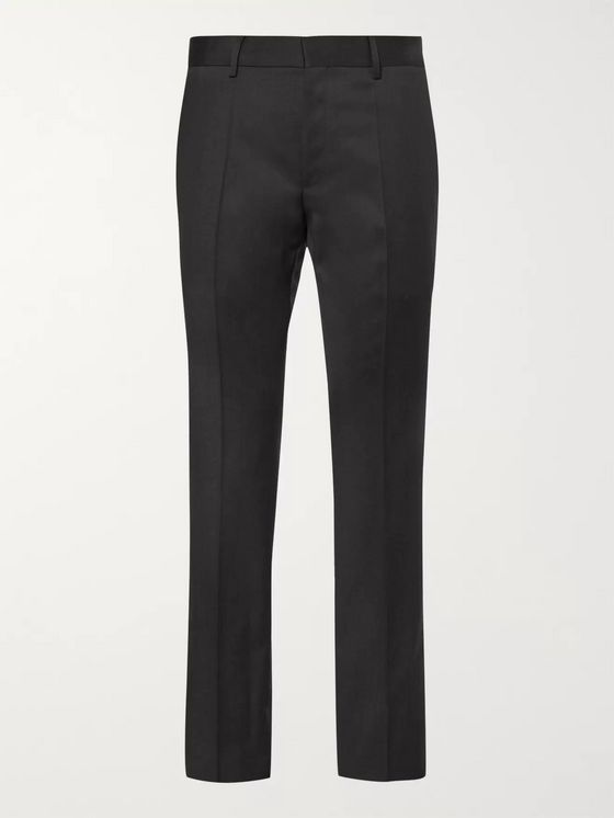 HUGO BOSS Grey Gibson Slim-Fit Virgin Wool Suit Trousers