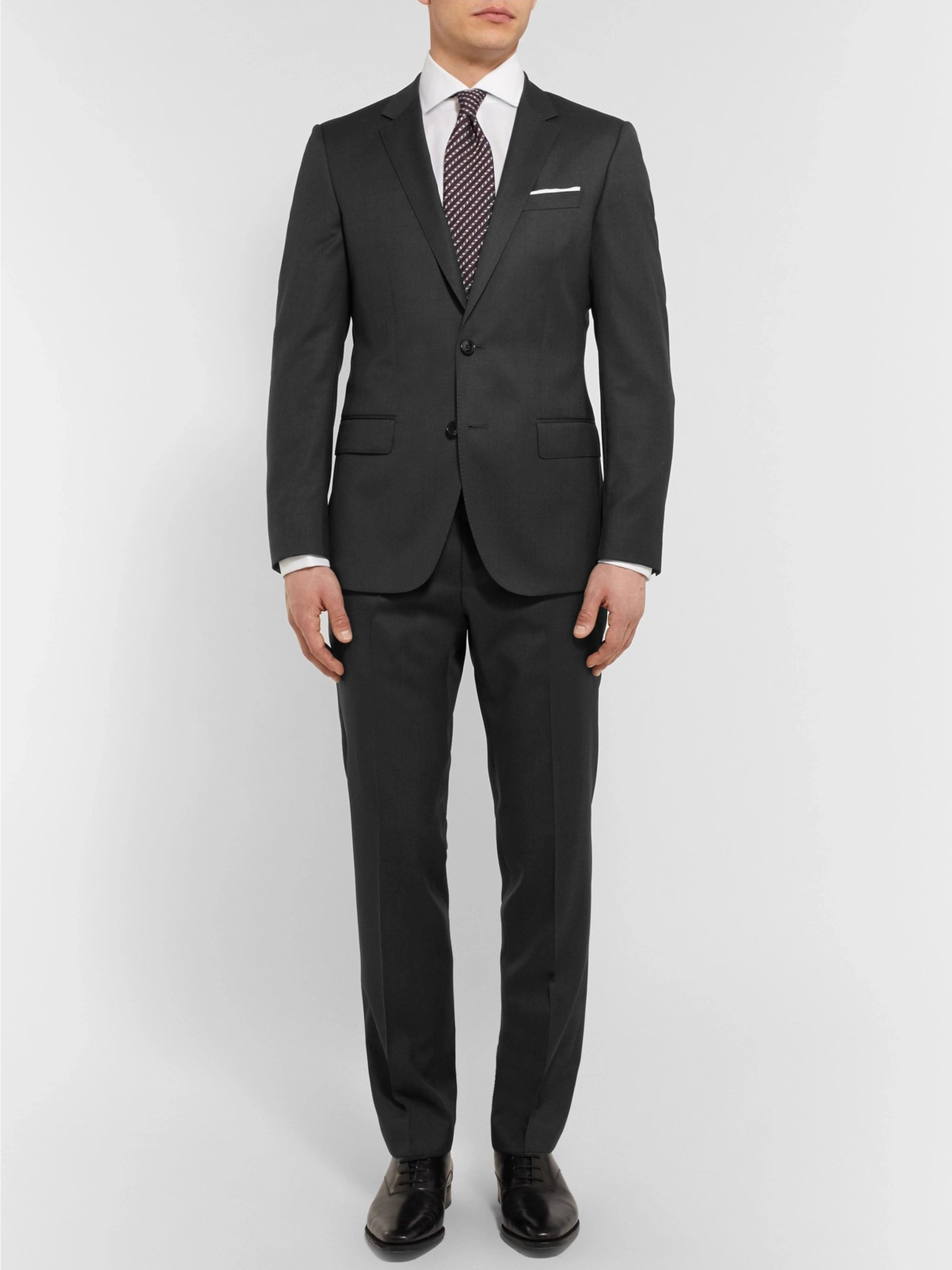 Hugo Boss Black Gibson Slim-Fit Virgin Wool Suit Trousers