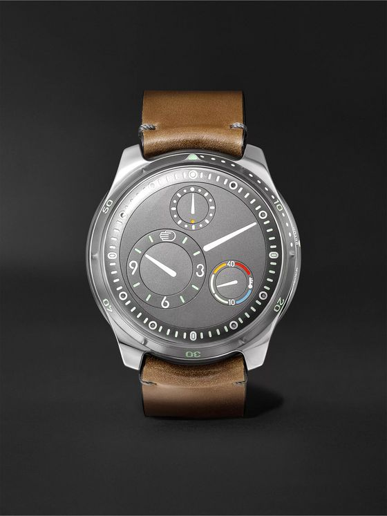 RESSENCE Type 5G Mechanical 46mm Titanium and Leather Watch, Ref. No. TYPE 5G