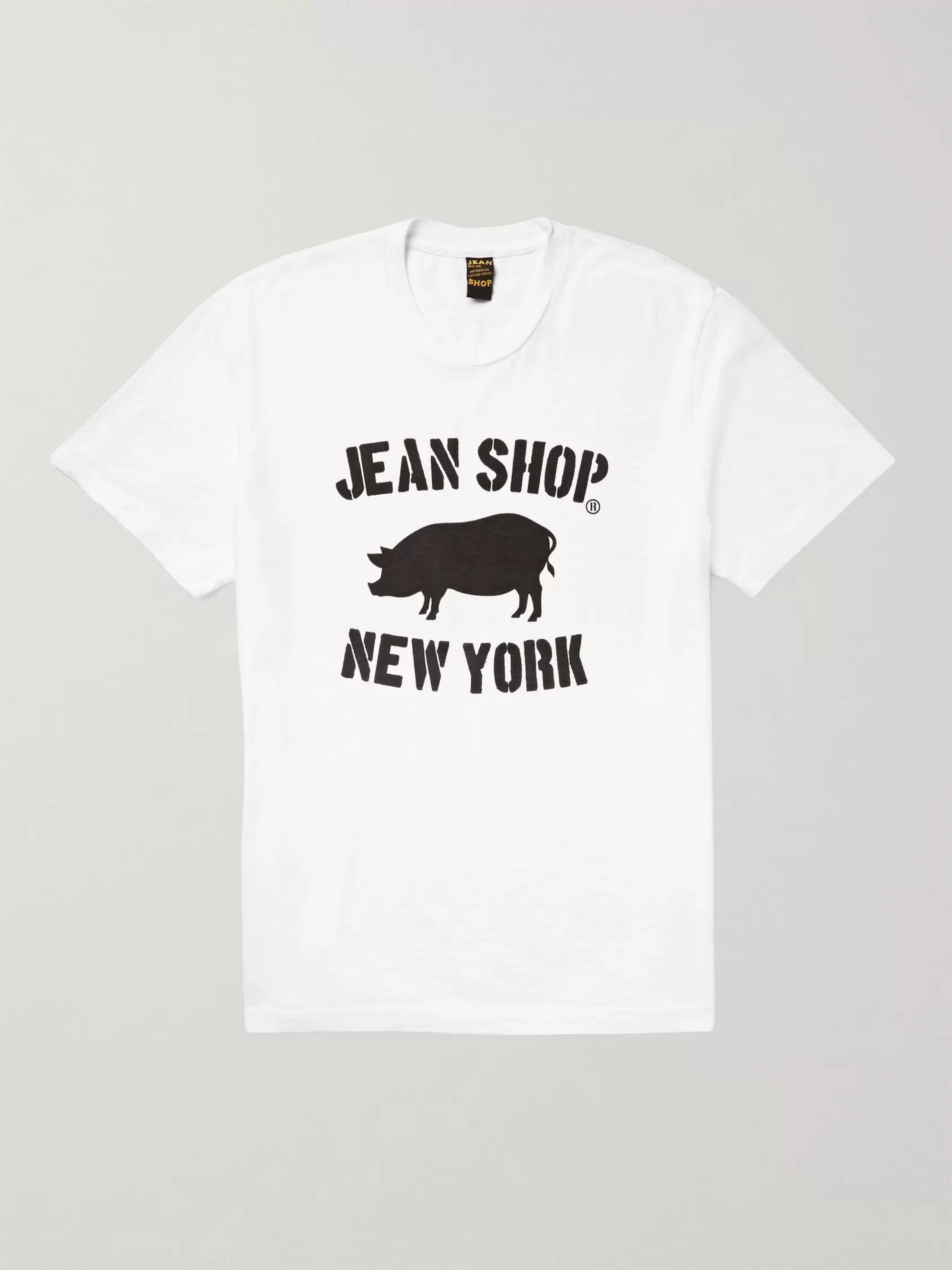 Jean Shop Printed Slub Cotton-Jersey T-Shirt